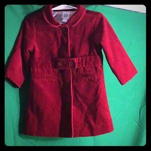Adorable baby Gap Infant Red Dress Coat Sz 12-18mo